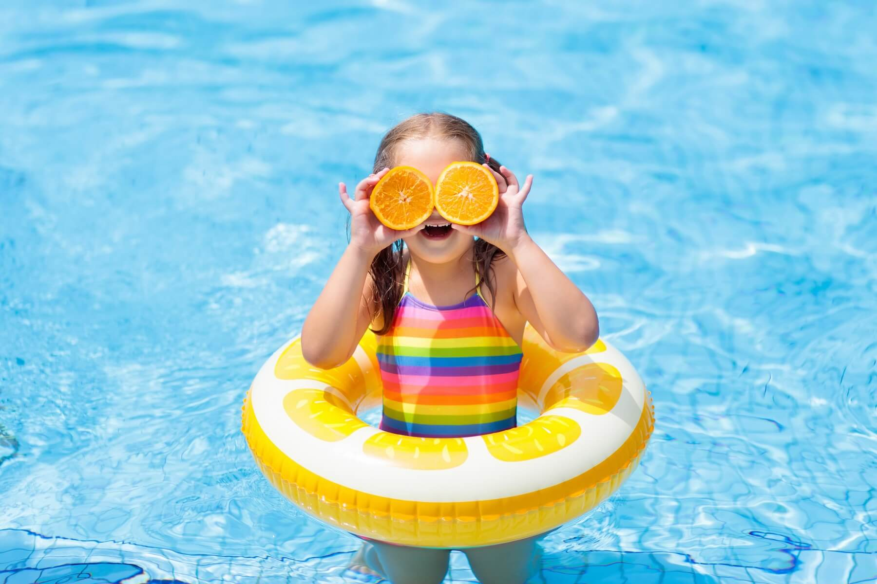 child kid swimming pool